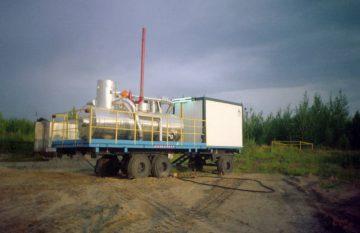 Мобильная установка для освоения нефтегазодобывающих скважин